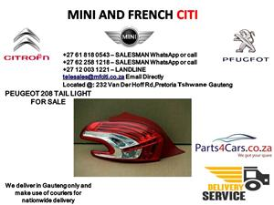 Peugeot 208 Tail Light for sale