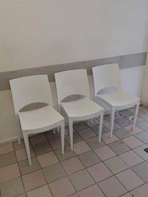 White office waiting chairs for sale