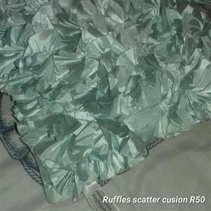 Ruffles scatter cushion