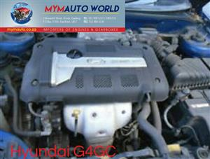Imported used  HYUNDAI TUCSON/TIBURON 2.0L, G4GC, engine. Complete second hand used engine