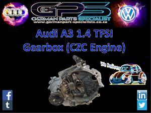 AUDI A3 1.4 TFSI 2016 GEARBOX (CZC ENGINE) FOR SALE