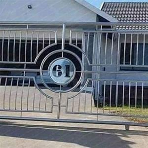 Brand new stainless steel gates
