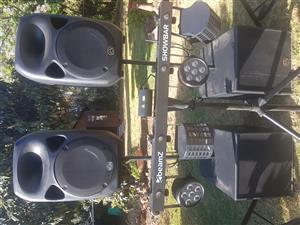 Wharfedale PA system Dj combo setup