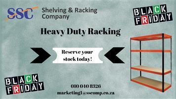 Black Friday - Heavy Duty Racking