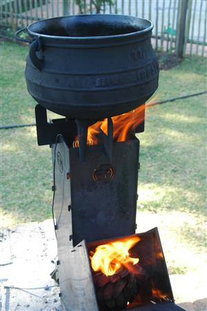 Monster Rocket Stove for commercial , big family cooking , preppers, campers , survival or fun only