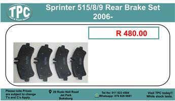 Sprinter 515/8/9 Rear Brake Set 2006- For Sale.