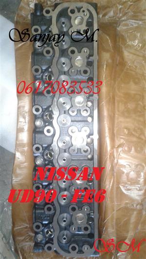 BRAND NEW NISSAN UD90 12v TRUCK CYLINDER HEADS - FE 6