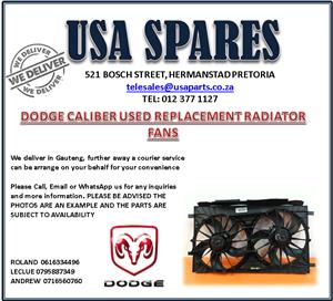 DODGE CALIBER USED REPLACEMENT RADIATOR FANS