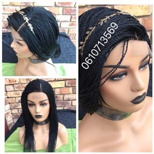 NEAT LACE FRONTAL TWIST WIG WITH SIDE OR MIDDLE PARTING