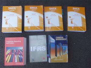 Financial Management & Auditing & IFRS Stndards Books - Text books x 7