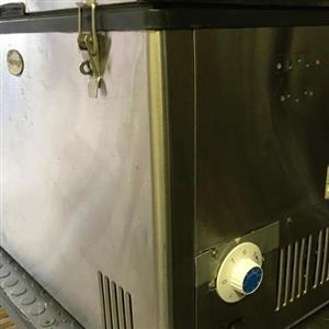Kellerman Stainless Steel Camp Fridge / Freezer. 220 Volt, 60 liter.