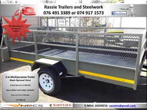 3 m Multipurpose Trailer for sale NRCS approved