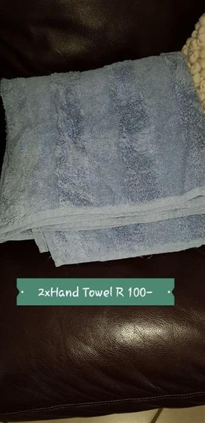 2nd hand blue towel