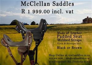McClellan Saddles