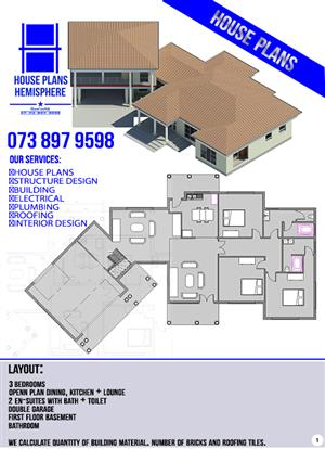 Double Storey House Plans in Limpopo | Polokwane | Lebowakgomo| Burgersfort |