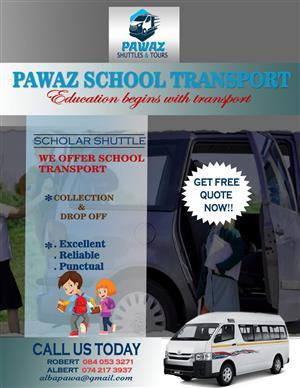 School transport from Waterfall to midrand schools