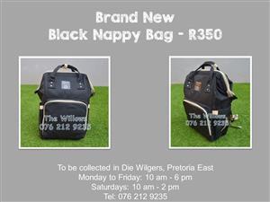 Brand New Black Nappy Bag