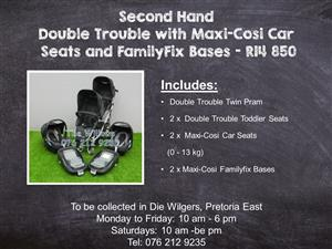 Second Hand Double Trouble with Maxi-Cosi Car Seats and FamilyFix Bases