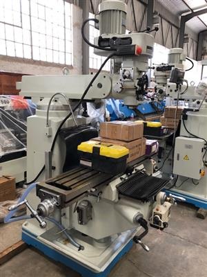 Milling Machine, Turret Mill, 5HP, 3 Axis DRO System, Brand New