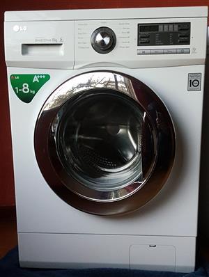 White LG 8 kg washing machine