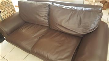 LEATHER TWO SEATER BANK  FOR SALE