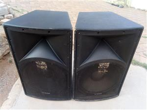 Now Reduced Dixon 1600W power15-inch speakers (pair)