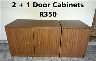 2 + 1 Door Cabinets