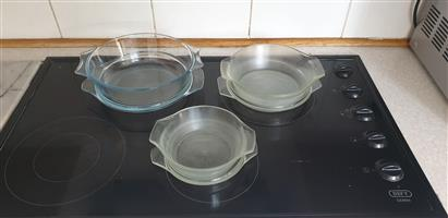 Oven Proof Glassware Bowls for Cooking 3 Sizes With Lids