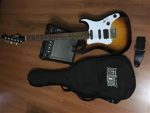 Bucklay Electric guitar with accessories