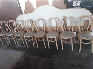 Light wooden round chairs for sale