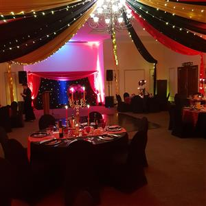Draping and fairylights hire
