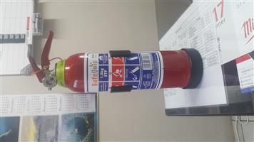 1Kg Fire Extinguishers and Brackets
