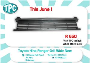 Toyota Hino Ranger Grill Wide New for Sale at TPC