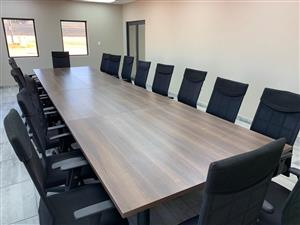 Boardroom Table + 16 Chairs