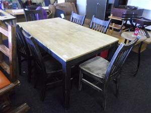 Wooden Dining Room Suite + 6 Chairs