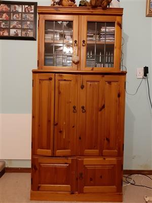 Oregon Pine TV Cabinet For Sale