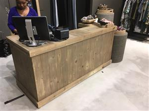 Reception Counter Farmhouse series 2000 Stained