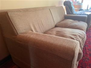 2x Material 2 Seater Coricraft Couches