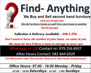 We buy and sell secondhand goods
