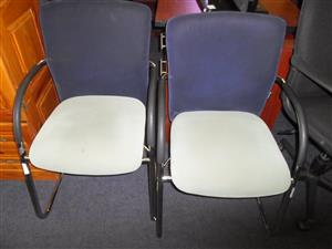 Material Office Chairs with Steel Frame