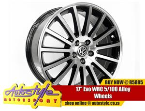 17 inch Evo WRC 5-100 Alloy Wheels