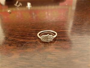 Hamsa Ring. Silver