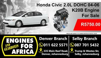 Used Honda K20B 2.0L Dohc 04-06 Engine For Sale