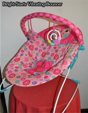 Bright Starts Vibrating Bouncer, pre-loved.