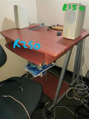 Medium colored wooden computer stand for sale