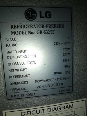 LG Fridge Freezer 530 Litre
