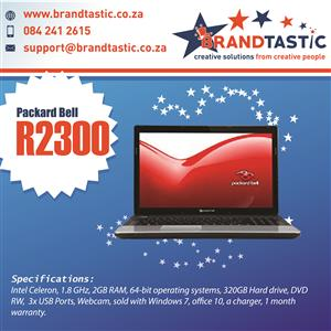 Blazing Fast Packard Bell AMD Laptop & Charger @ R2300