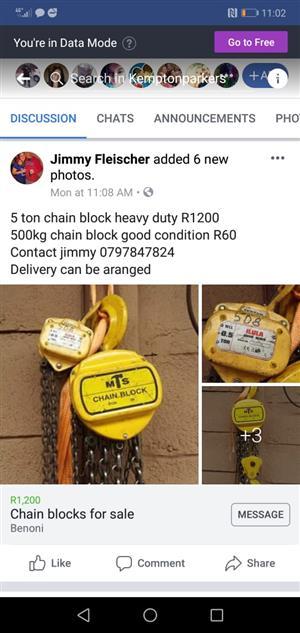 500kg chain block
