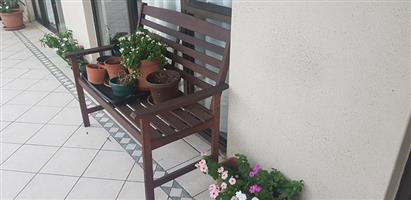Wooden porch bench for sale
