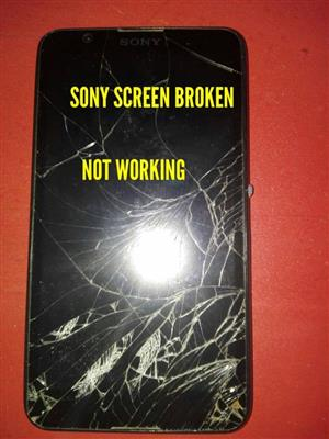 Black Sony screen broken